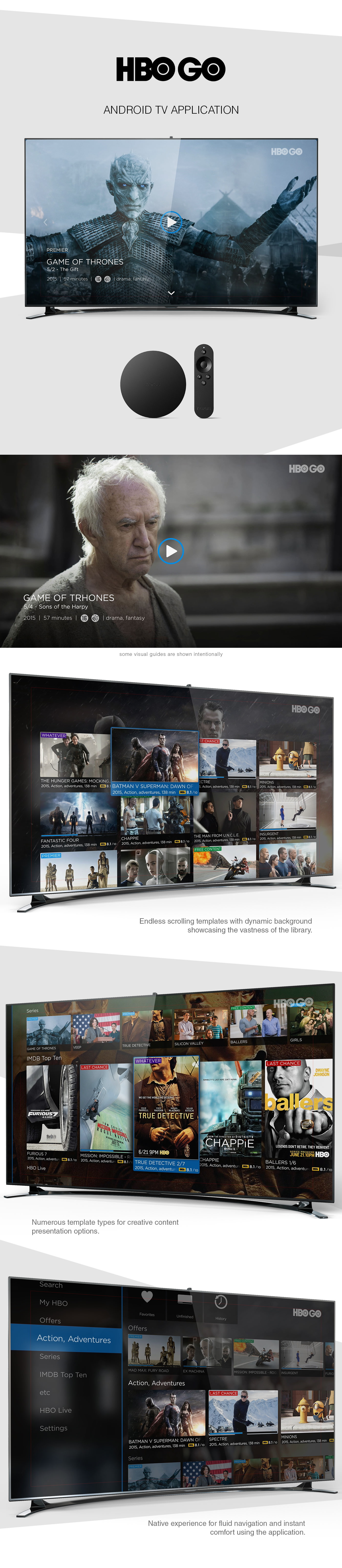 HBOGO - Android TV Application Design and Presentation - WNW