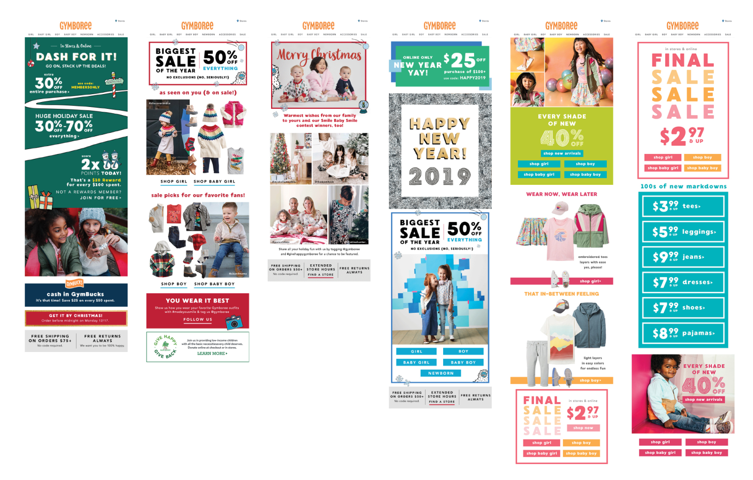 Gymboree Email Newsletters