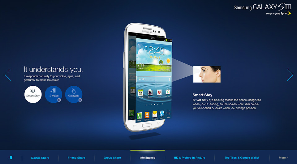 Samsung Galaxy III Launch - in store kiosk