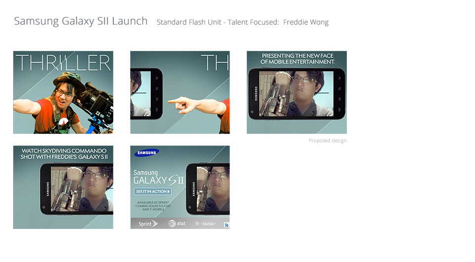 Samsung Galaxy SII Launch Advertising Campaign