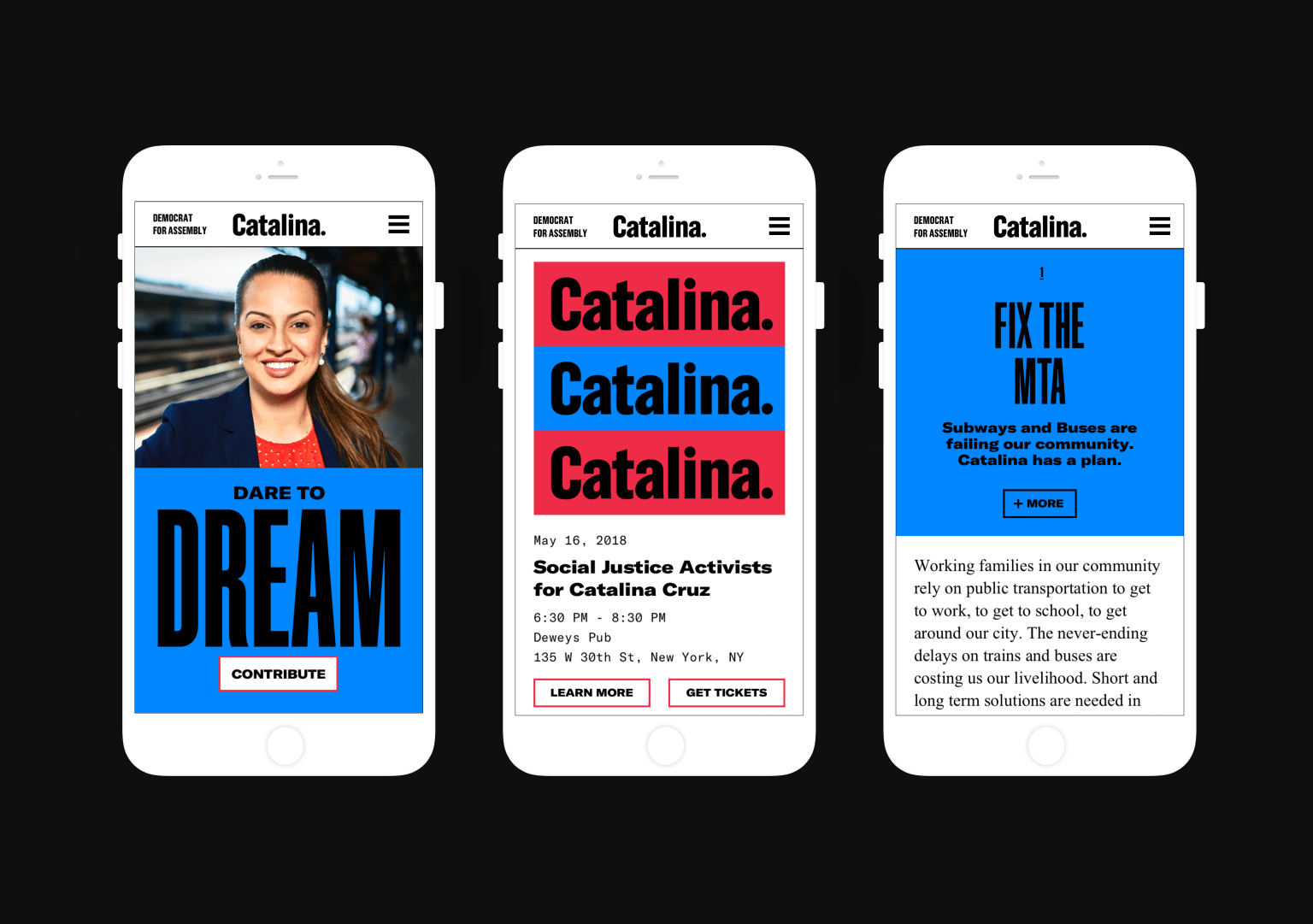 Visual Identity & Website for Catalina Cruz