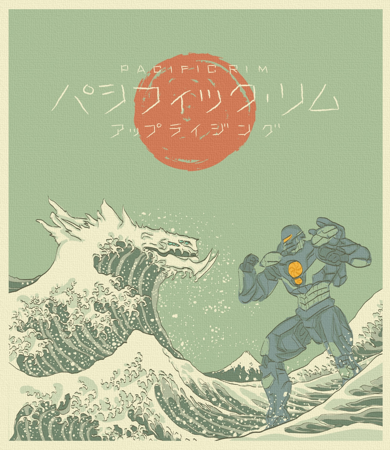 The Great Kaiju off Kanagawa