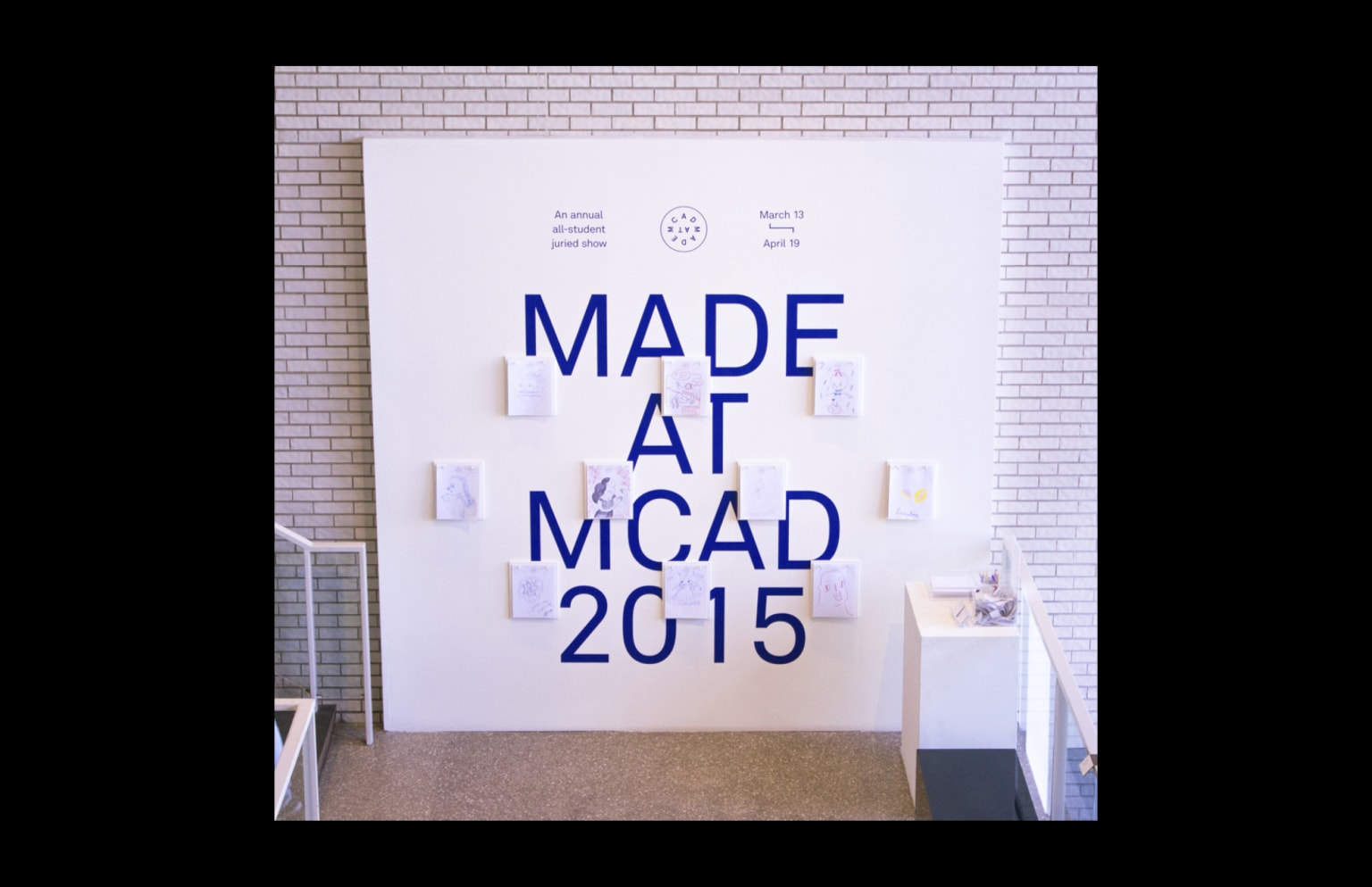 Made at MCAD 2015, Exhibition Design