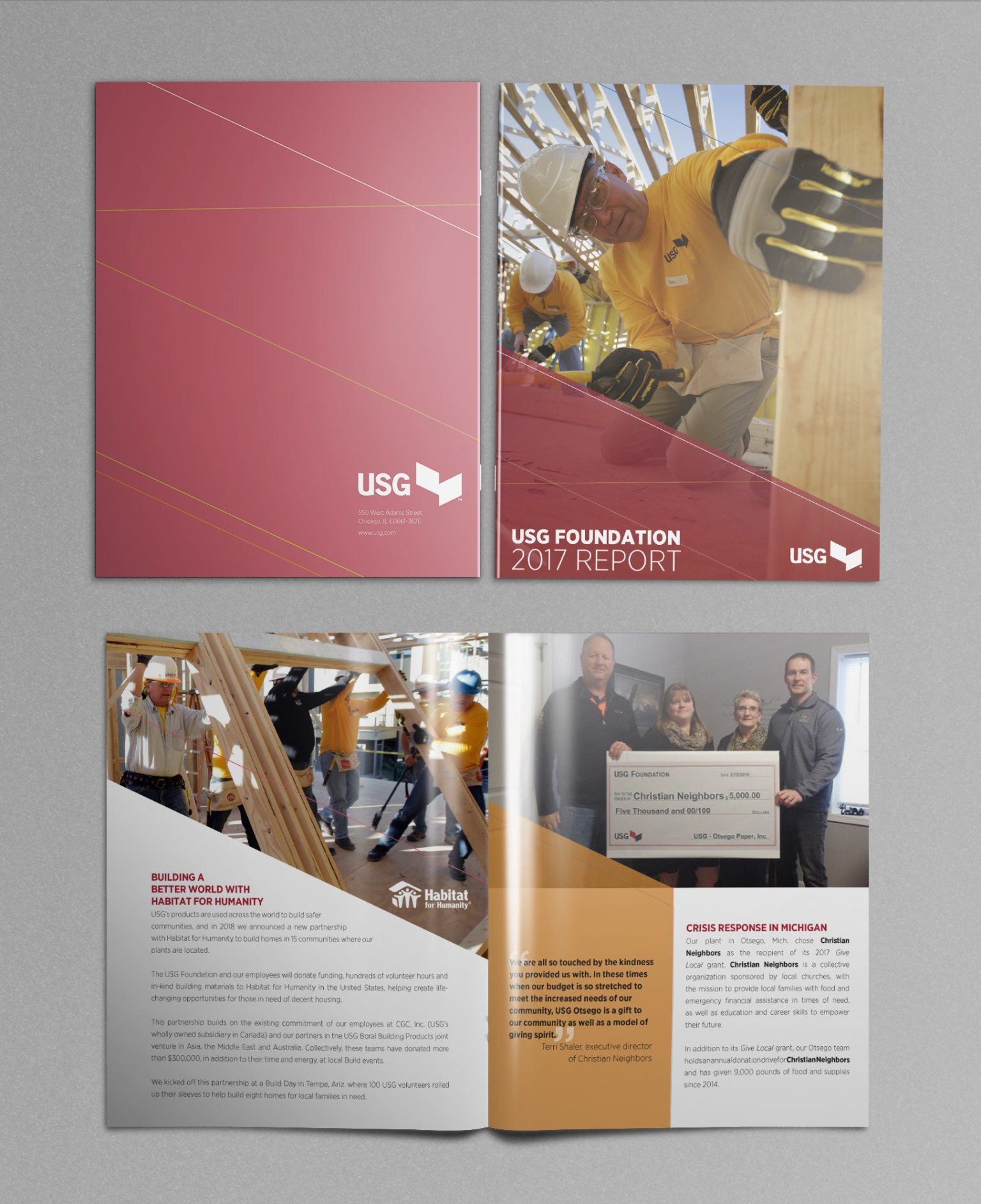 USG Foundation annual report and one sheeter