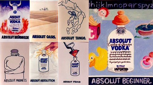 Absolut Vodka / Spy Magazine ad competition