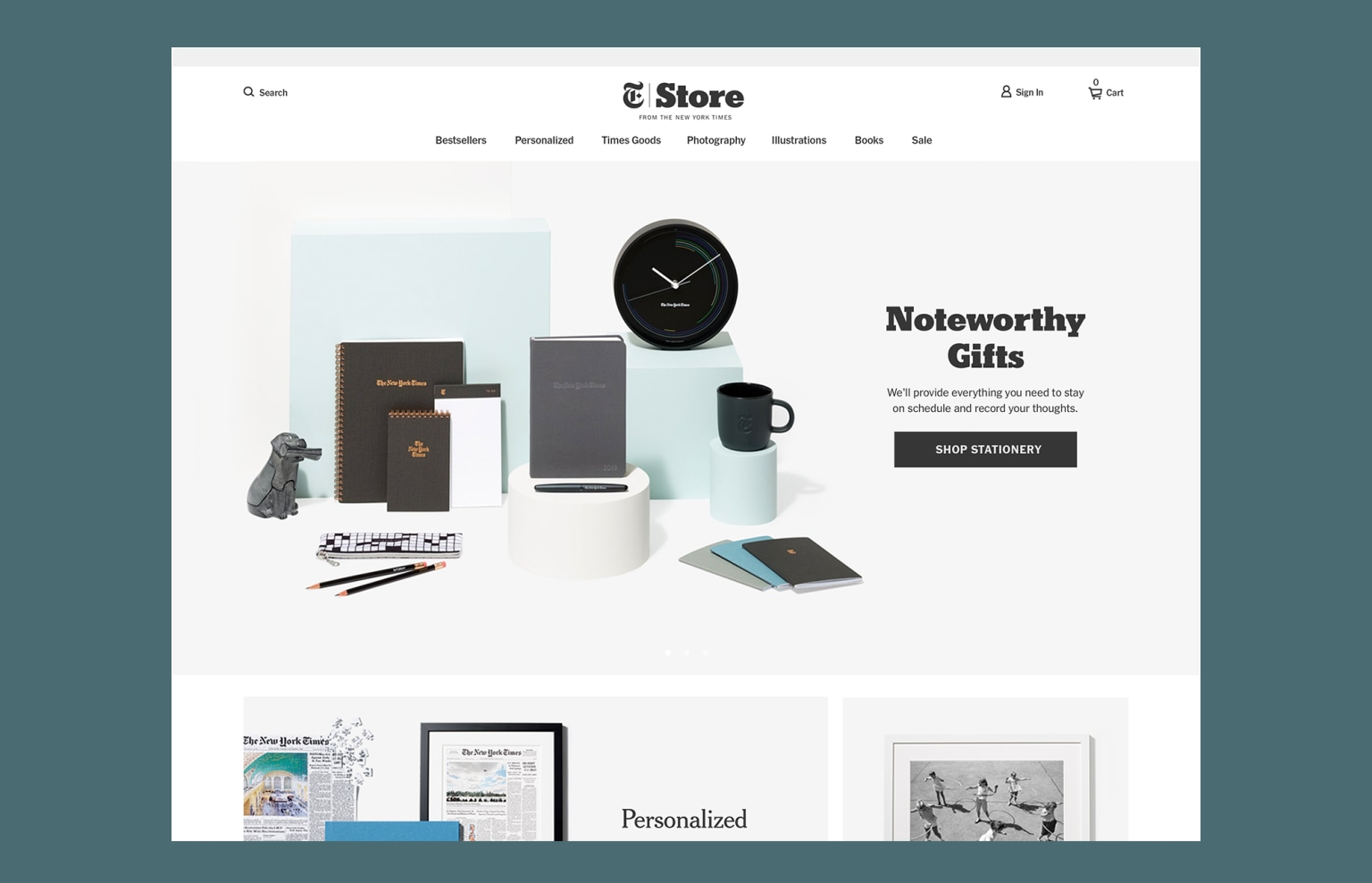 New York Times Store Website Redesign