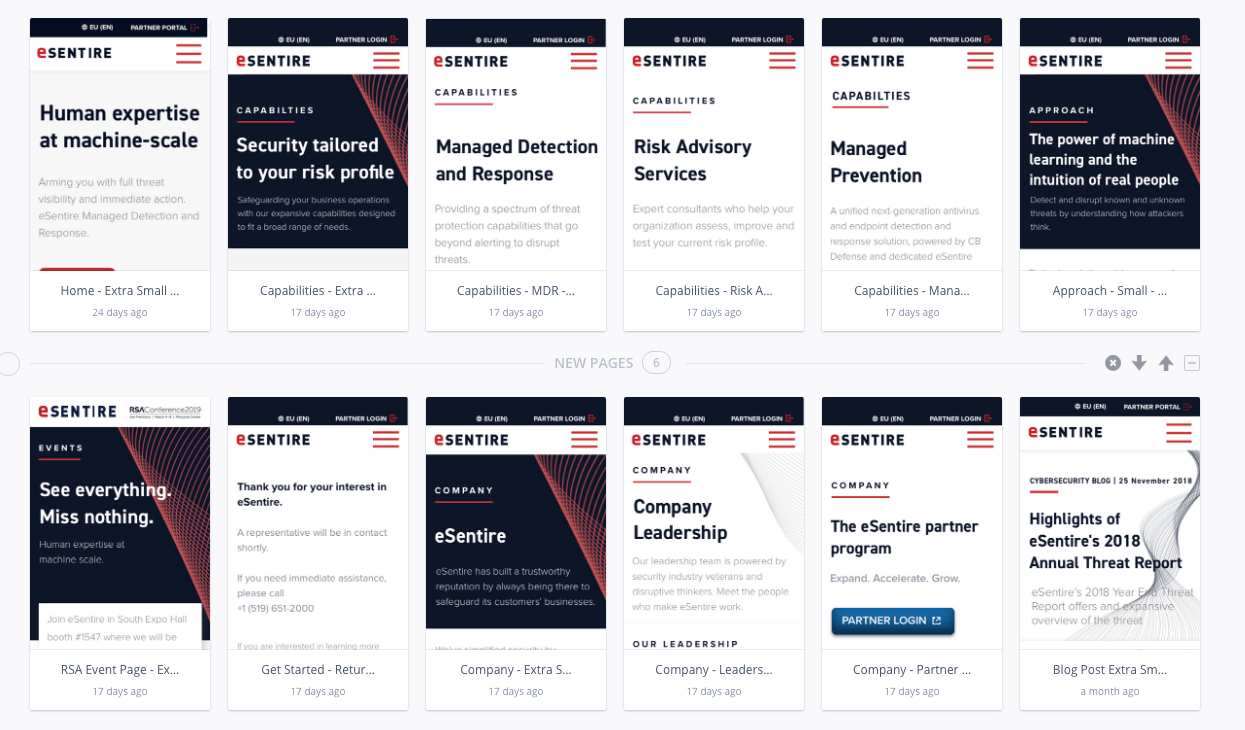 eSentire Cybersecurity: Website and Brand refresh