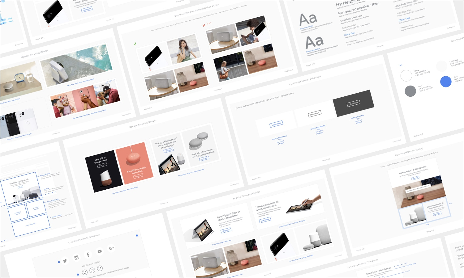 Google Store email and digital ad style guides