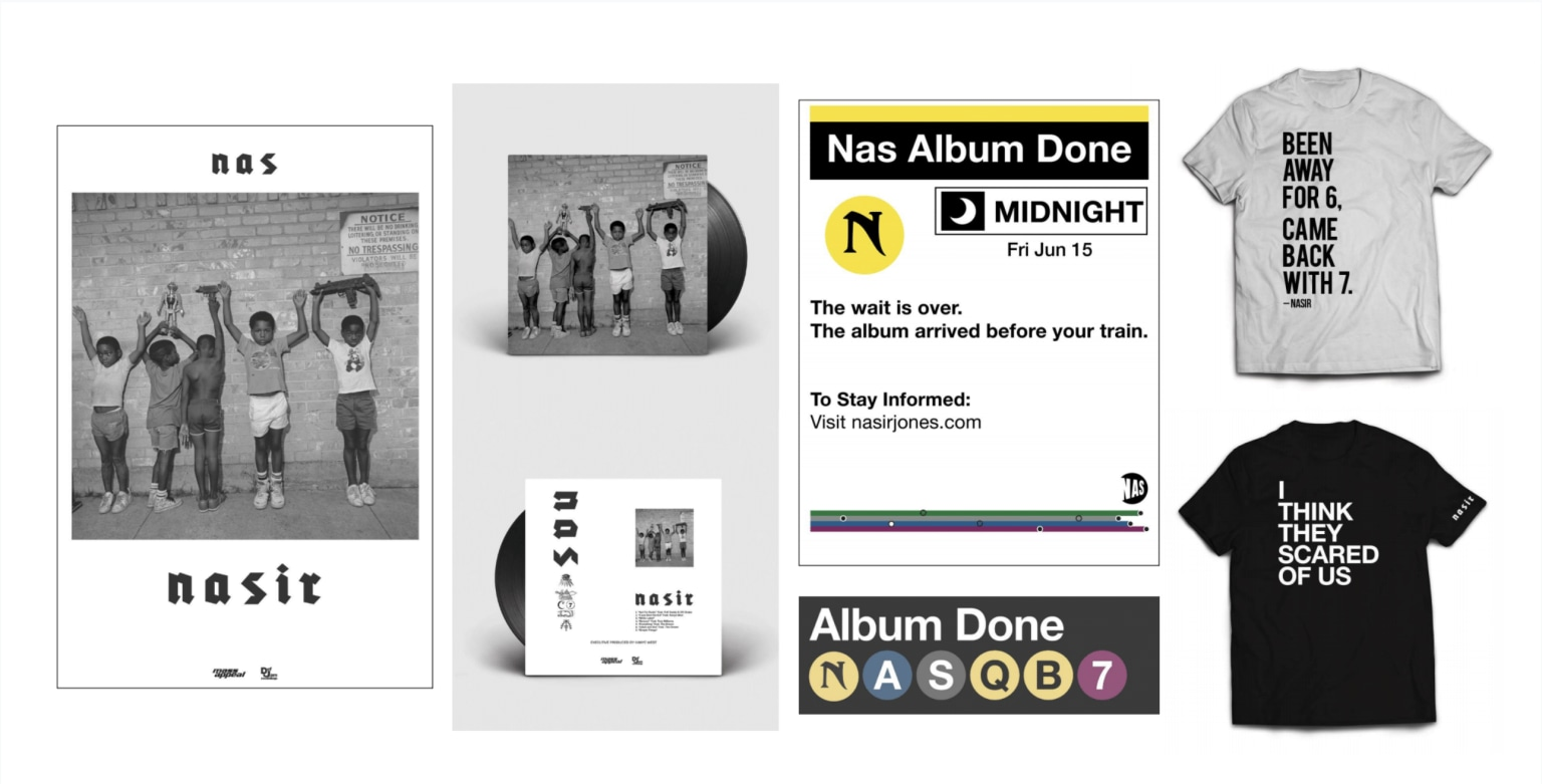 NASIR album packaging + merch design
