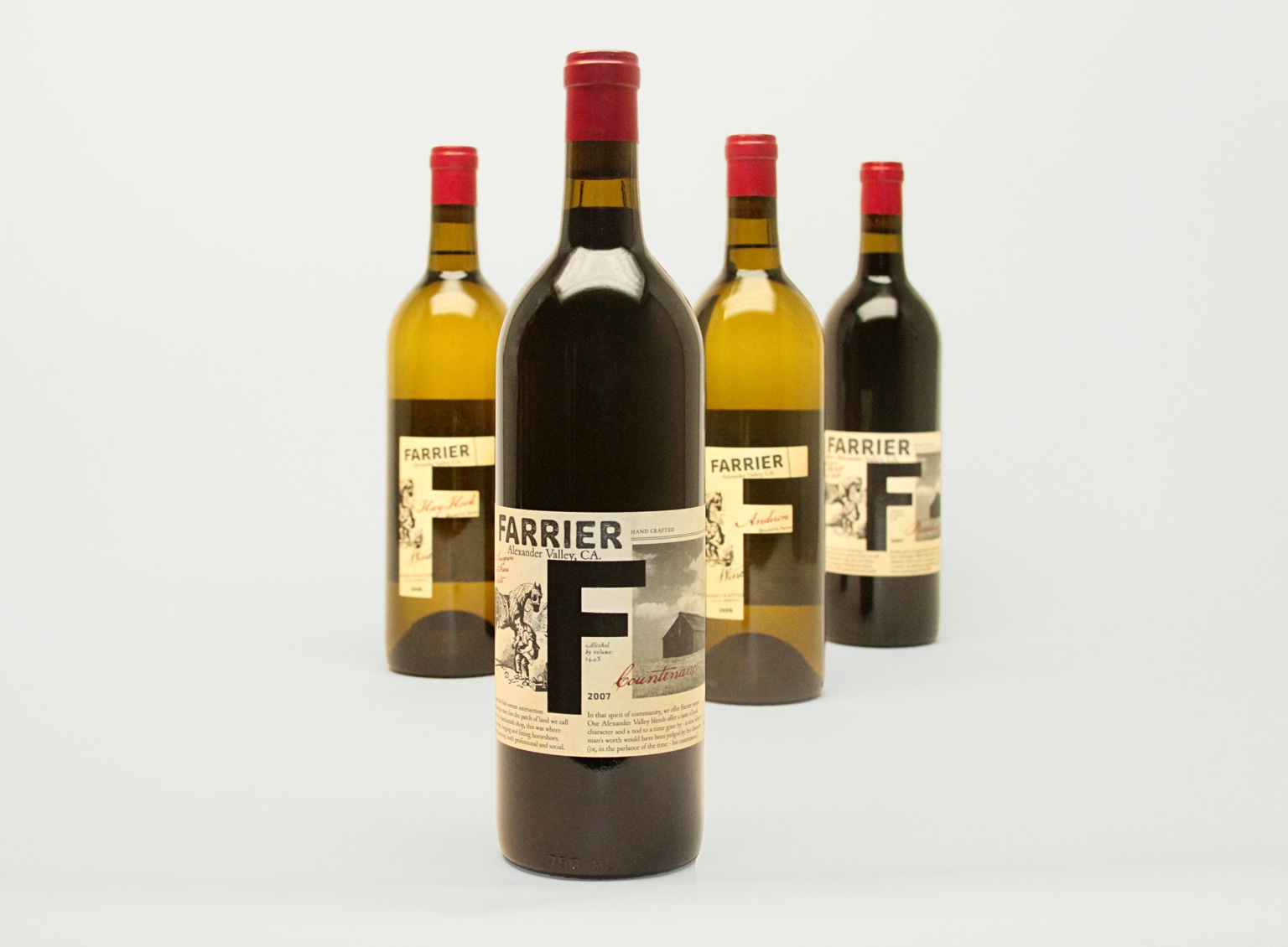 Farrier Wine Co. packaging