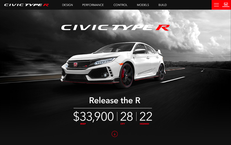 Civic Type R Launch Site