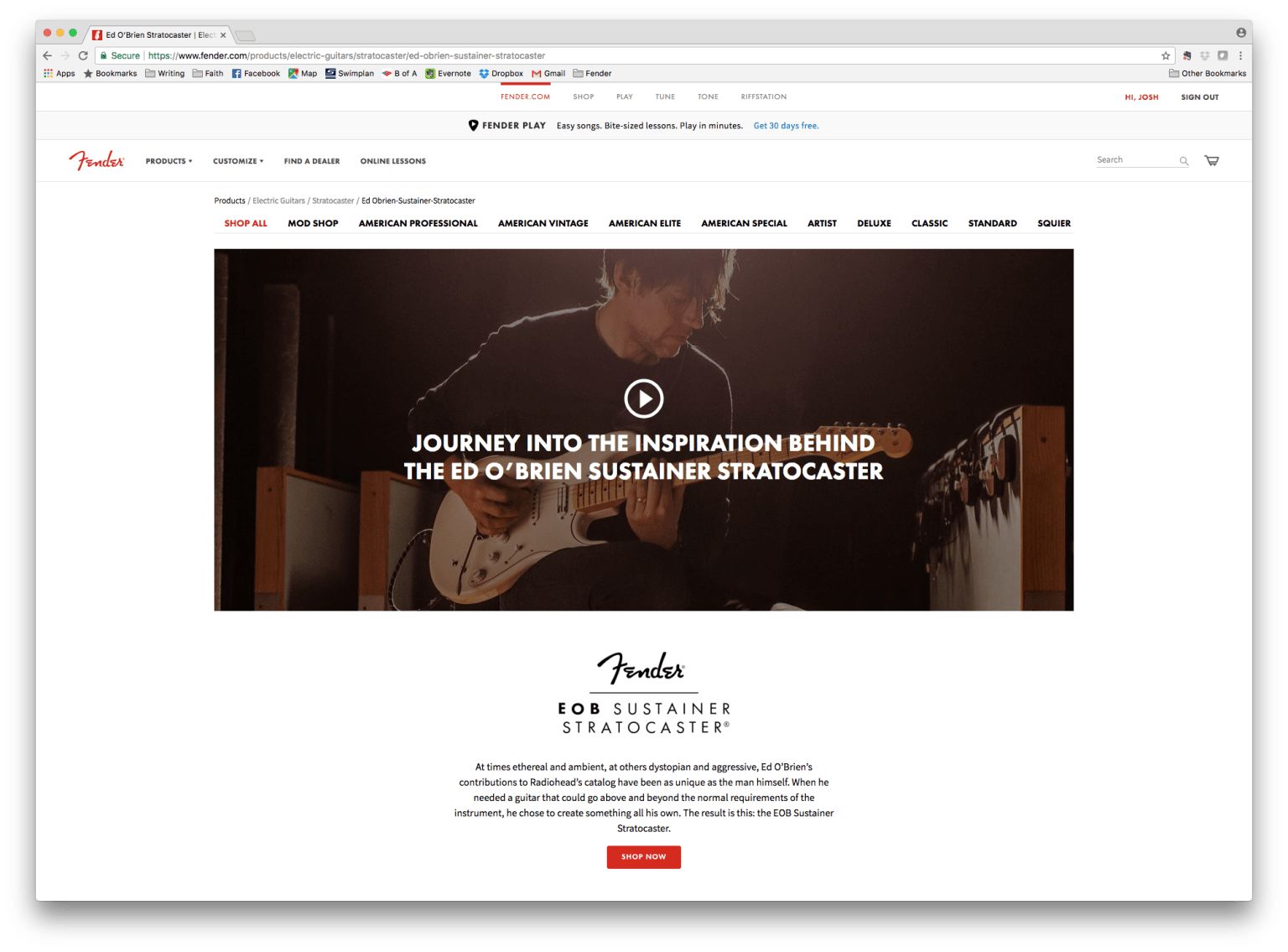 Fender Digital Campaigns