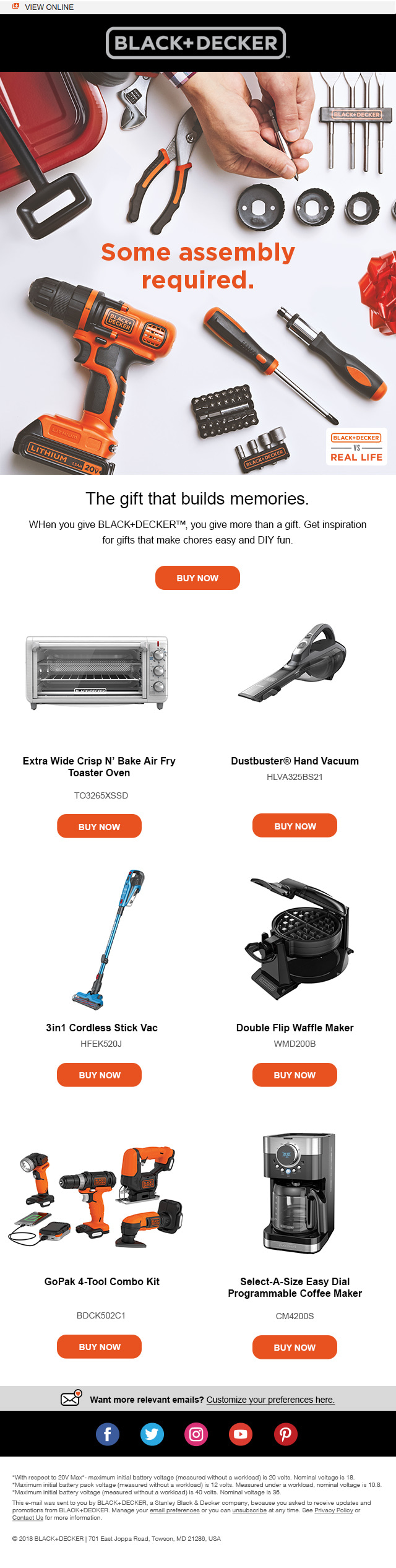 BLACK+DECKER vs. Gifting Campaign