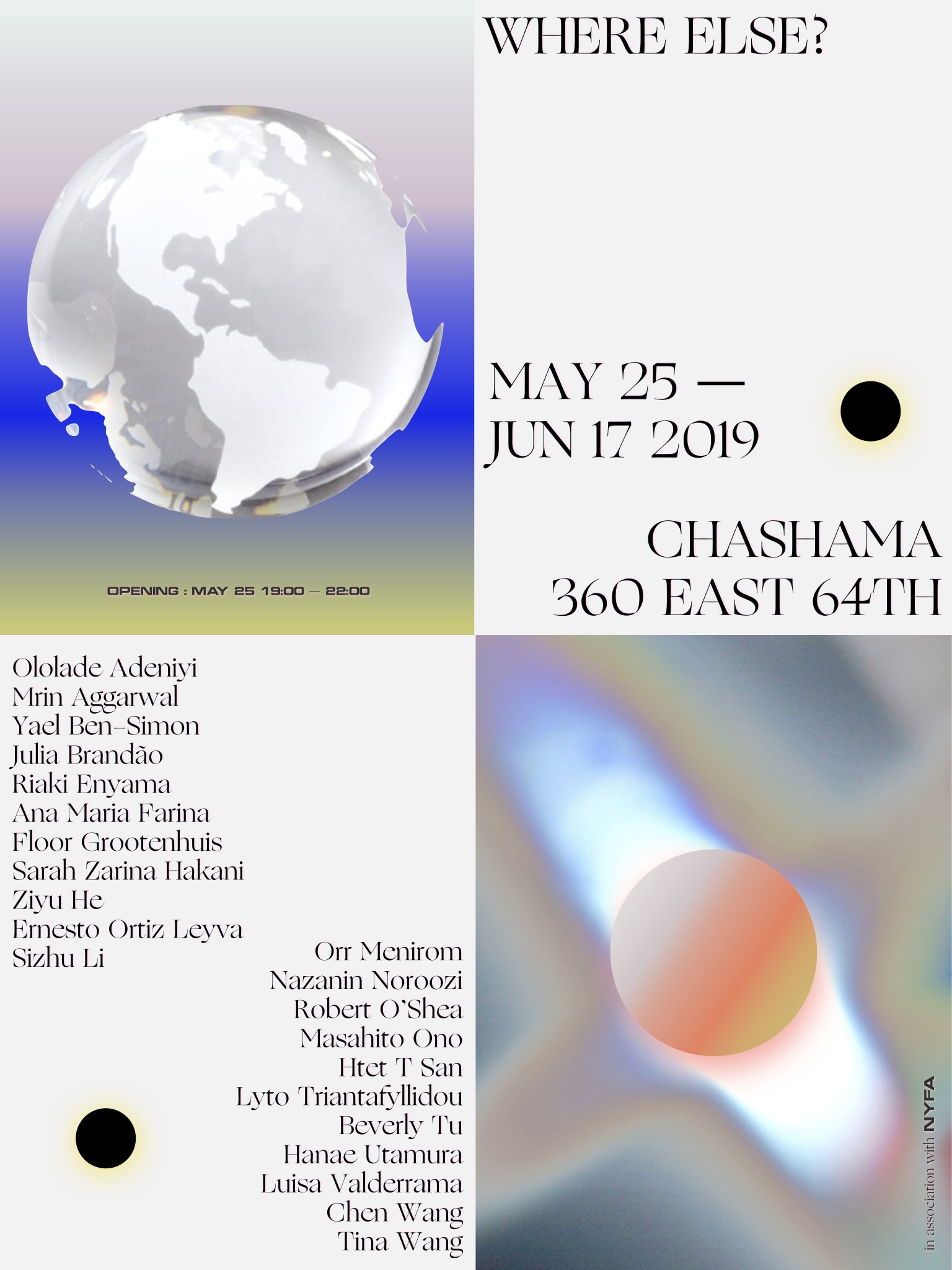 WHERE ELSE? Exhibition Poster