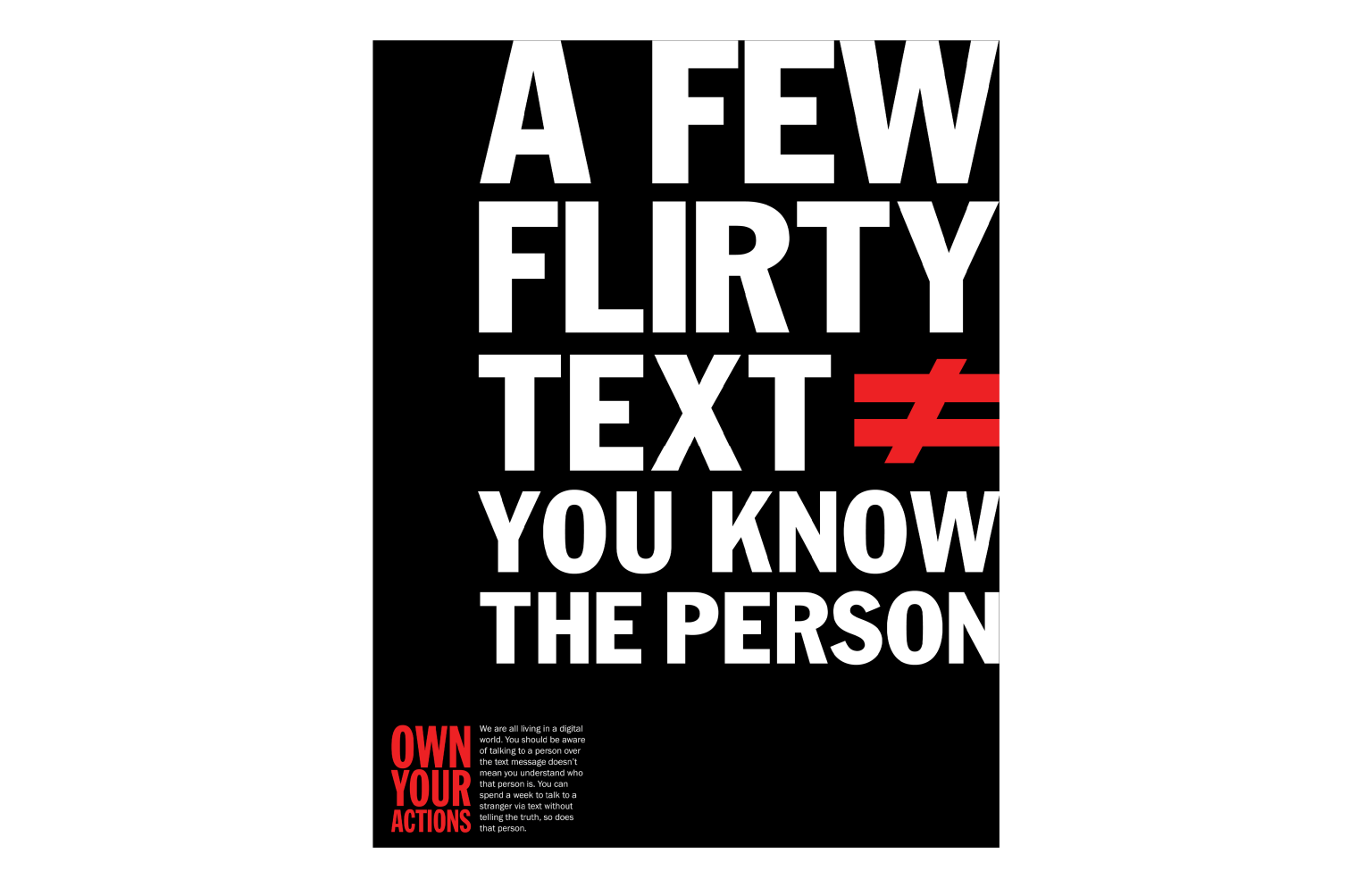OWN YOUR ACTIONS POSTERS