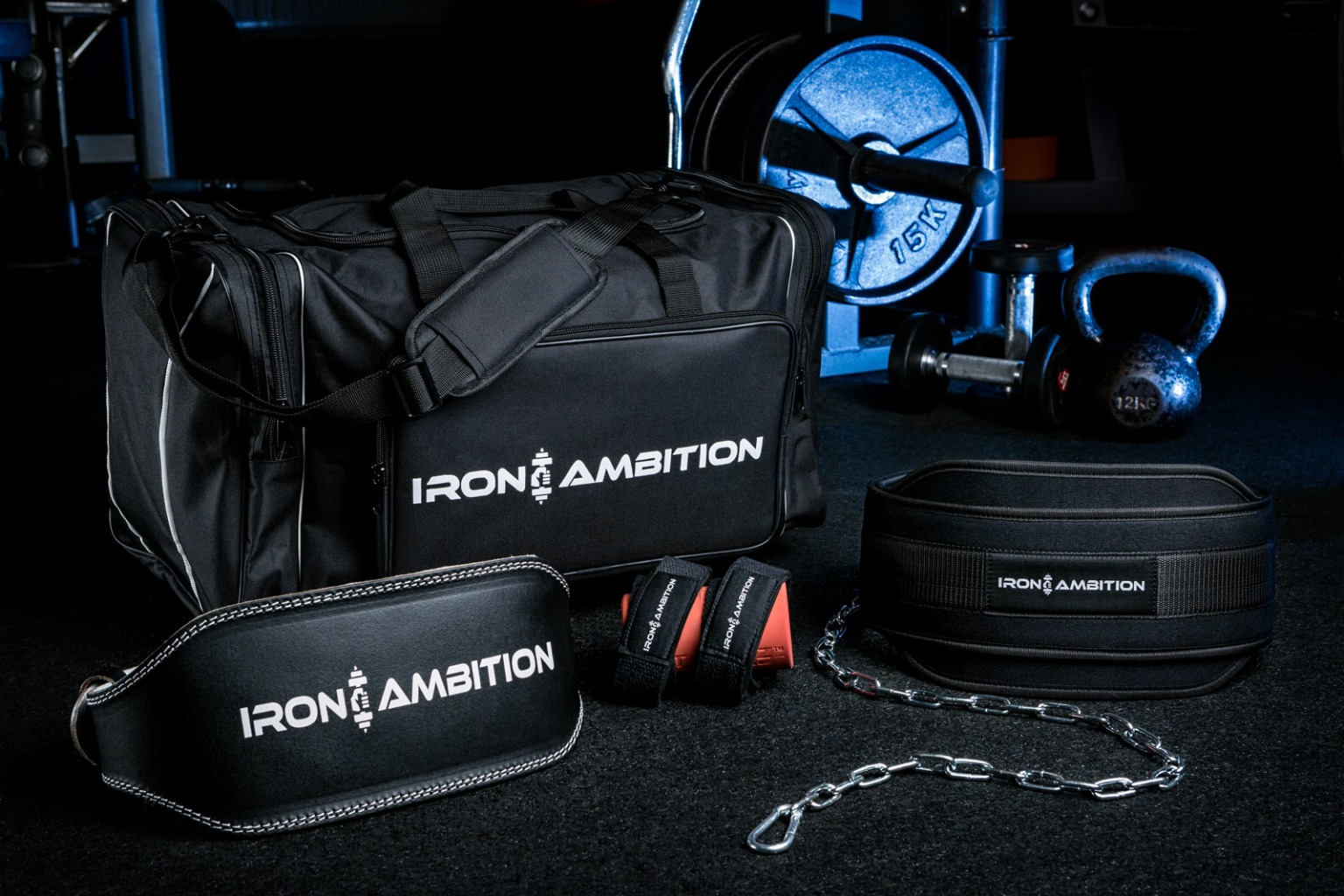 Sports bag and accessories - photography