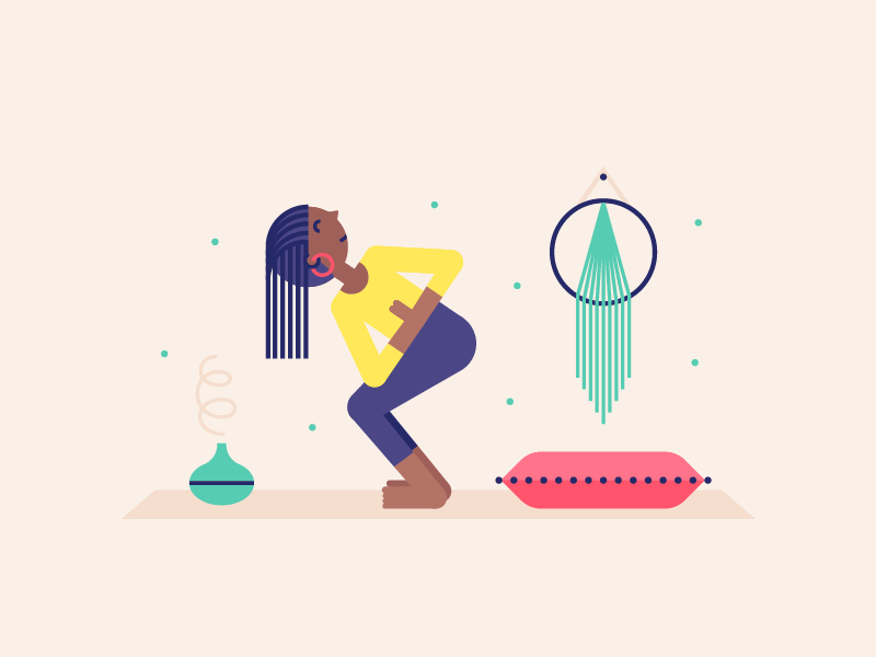 Yogaglo Illustration Branding