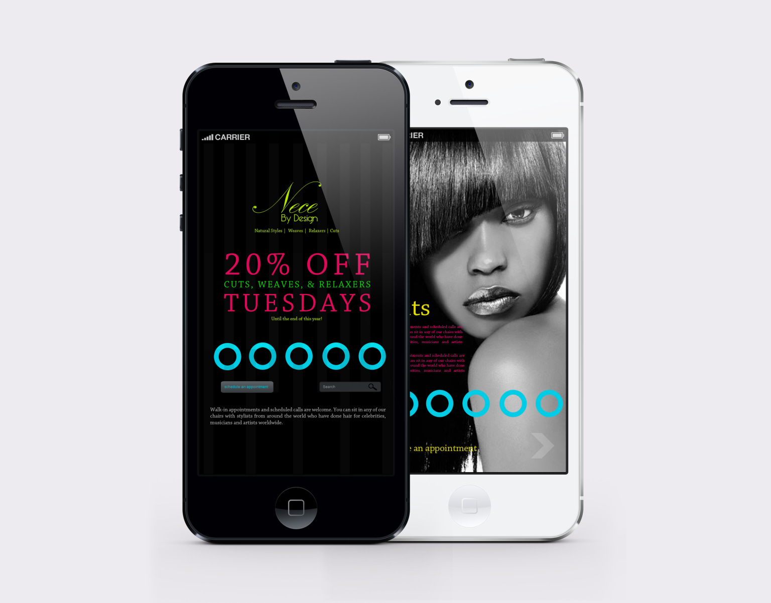 App Design for Hair Salon