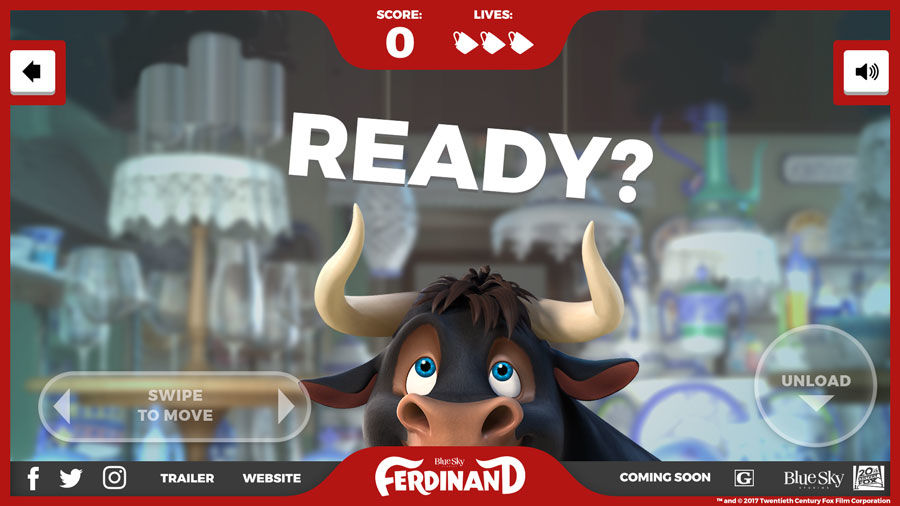 HTML Games - 20th Century Fox: Ferdinand