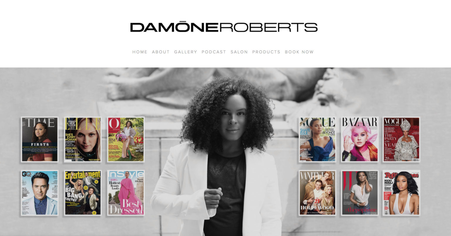 Damone Roberts Site Redesign