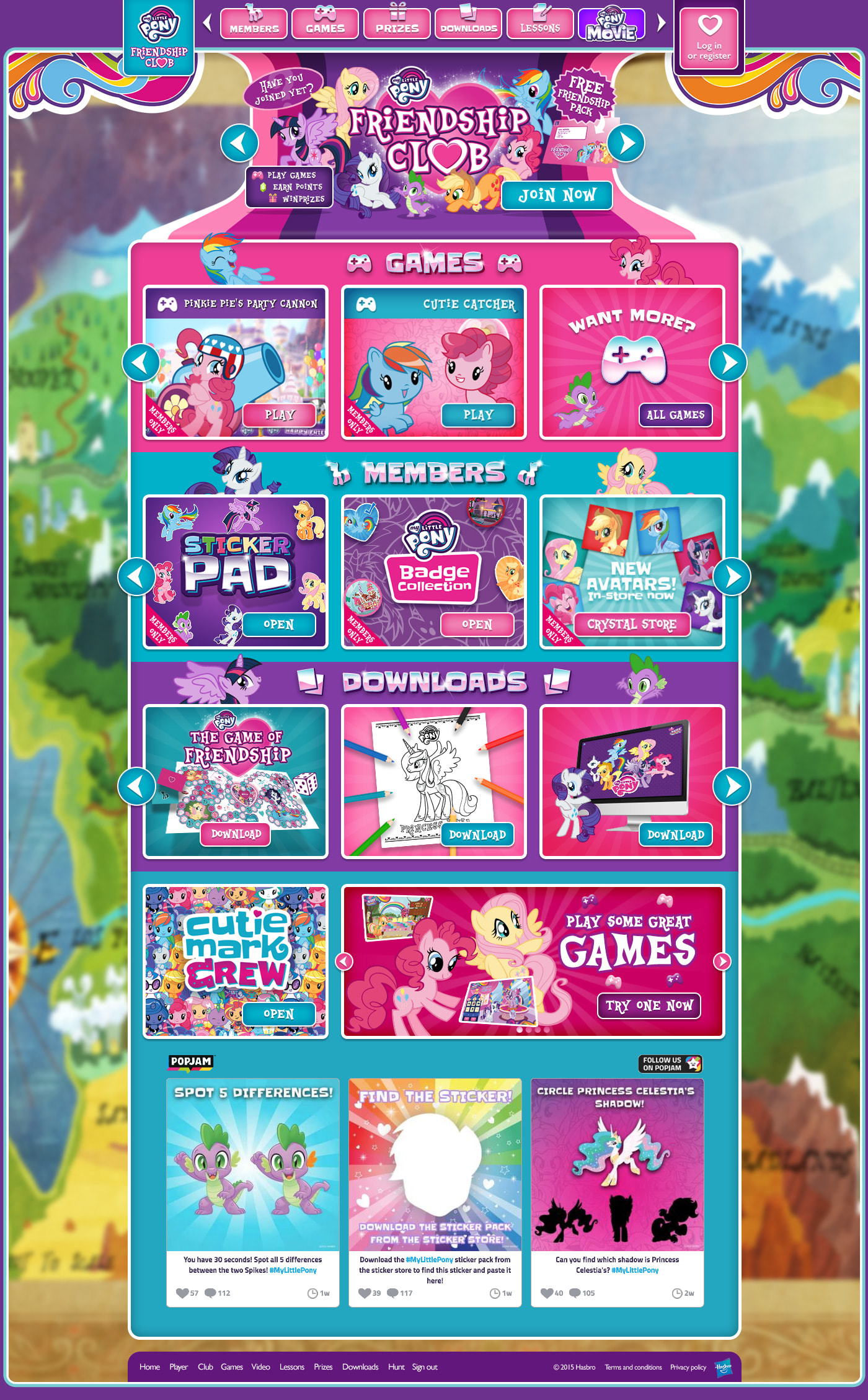 Website and Games - My Little Pony: Friendship Club