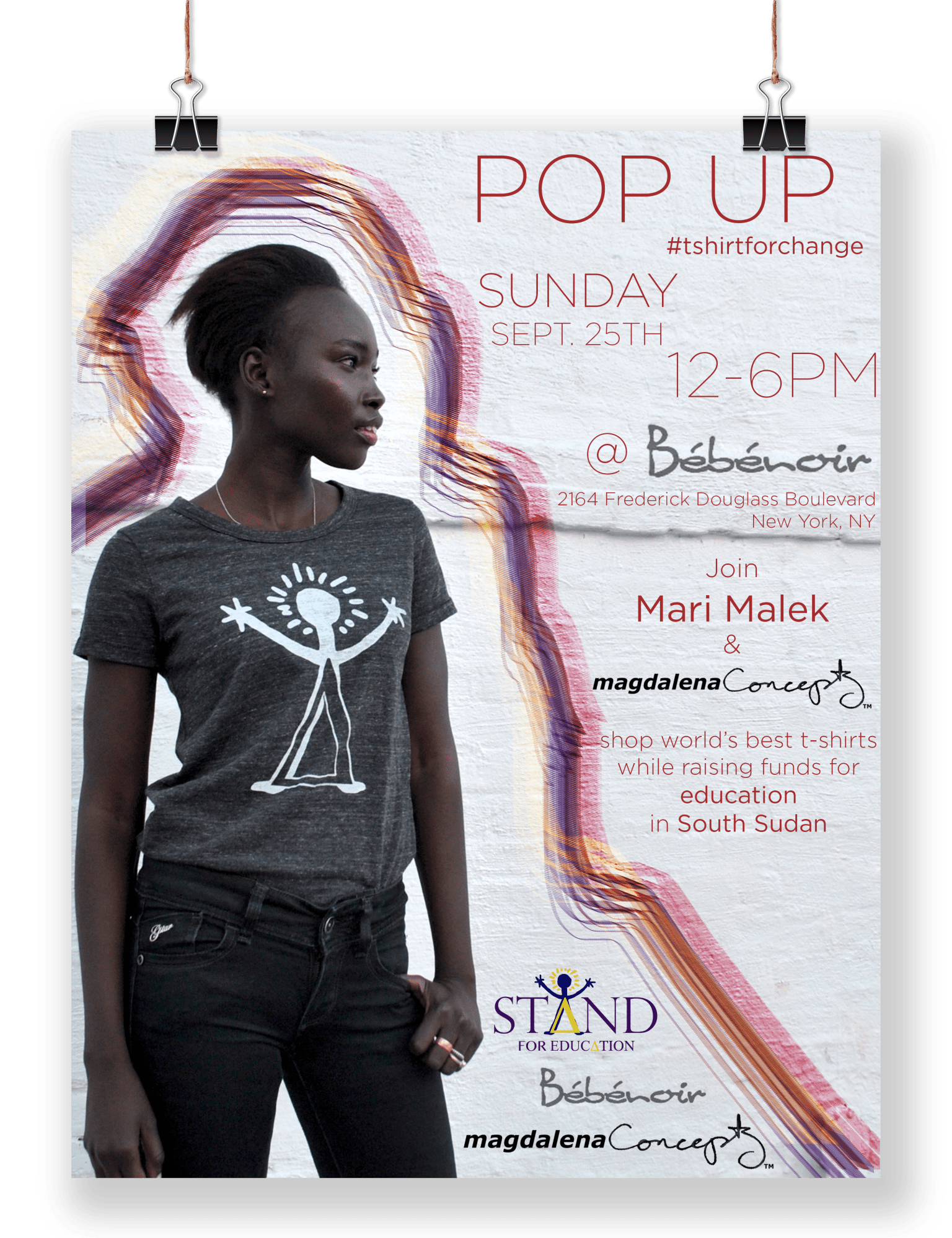 #tshirtforchange Pop-up event poster