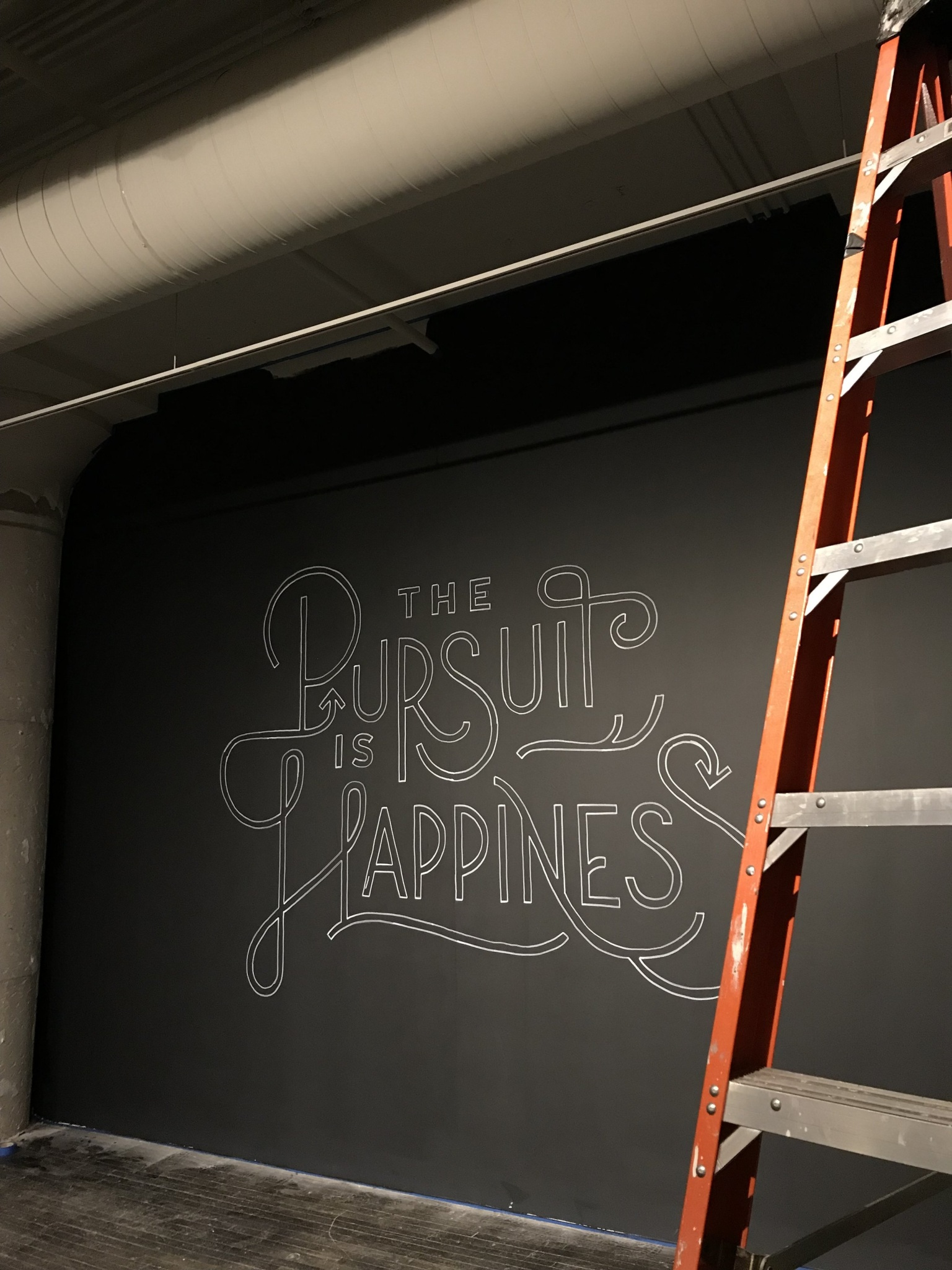 The Pursuit is Happiness Mural