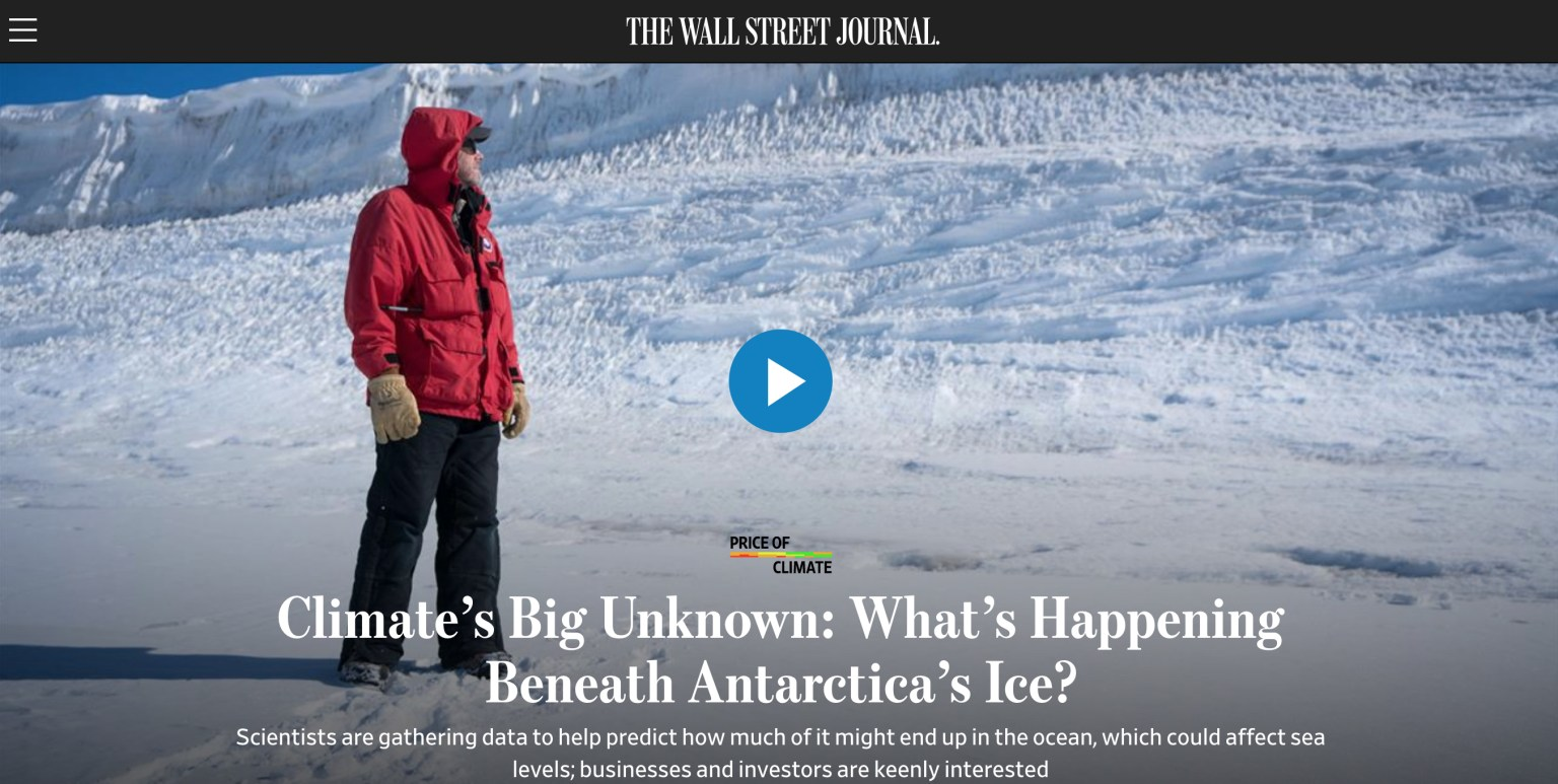 Climate's Big Unknown: What's Happening Beneath Antarctica's Ice?