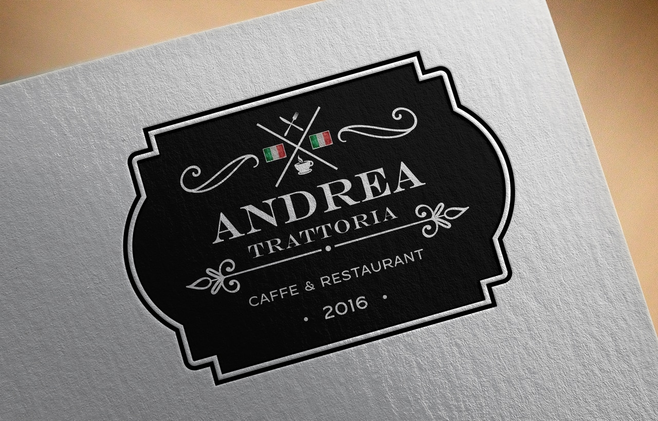 Logo design for restaurant Andrea Trattoria