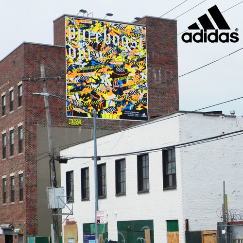 Adidas x Colossal Media Mural Design