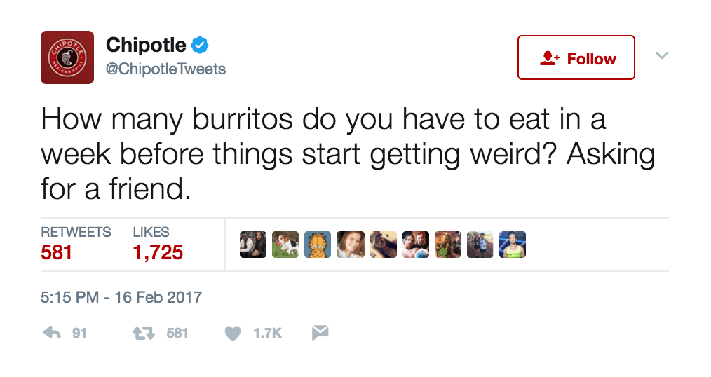 Chipotle Mexican Grill: Twitter
