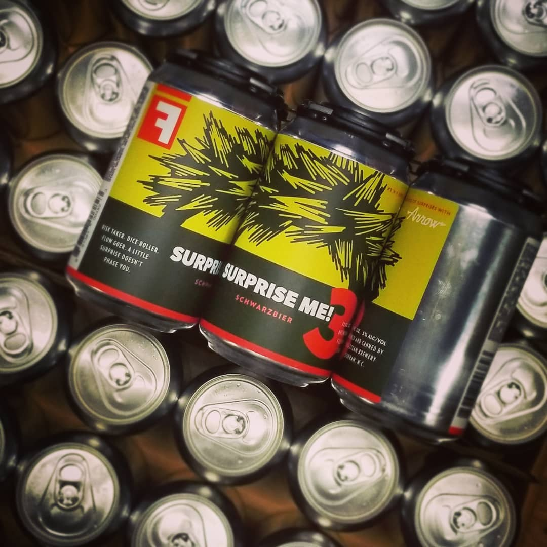 Fullsteam Brewing x Arrow Haircuts - illustrated haircut beer cans