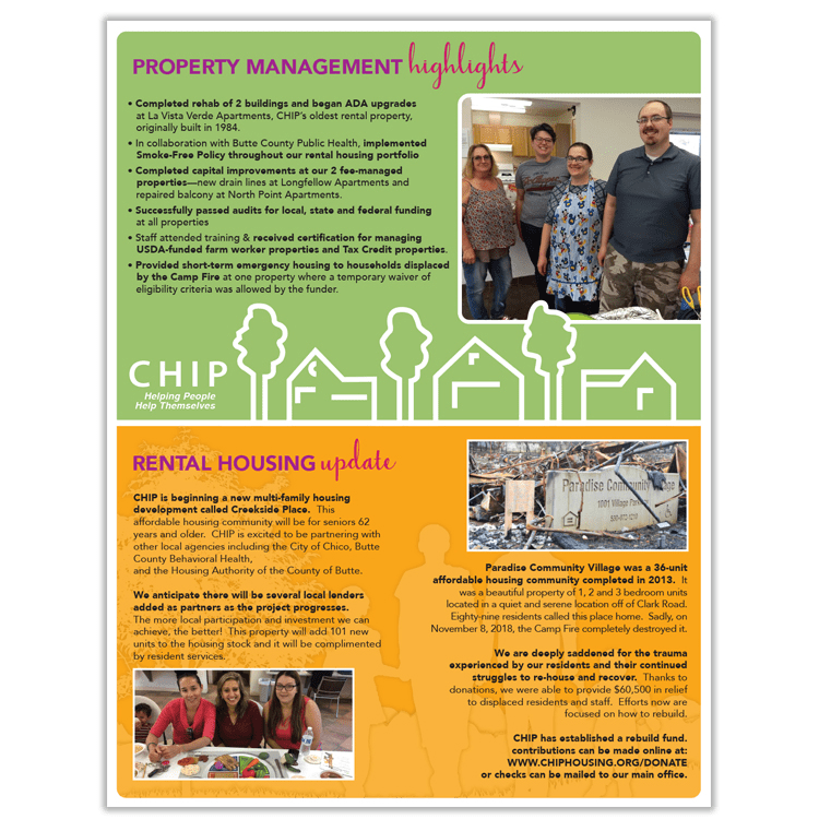 Annual Report - Chico, CA, Community Housing Project