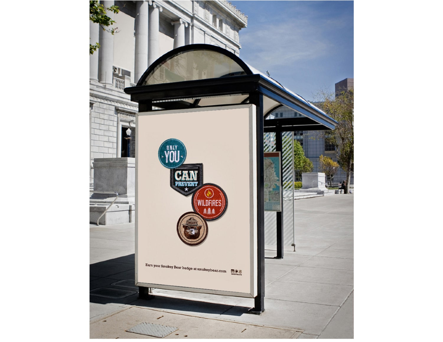 Smokey Bear Print and Outdoor Campaign
