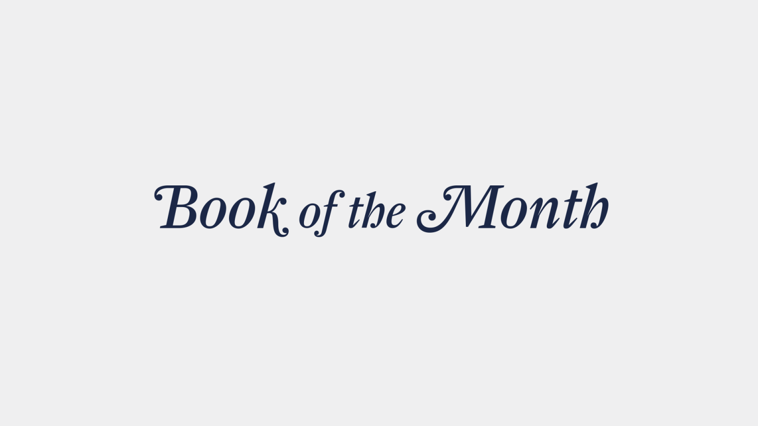 Book of the Month - Brand Refresh