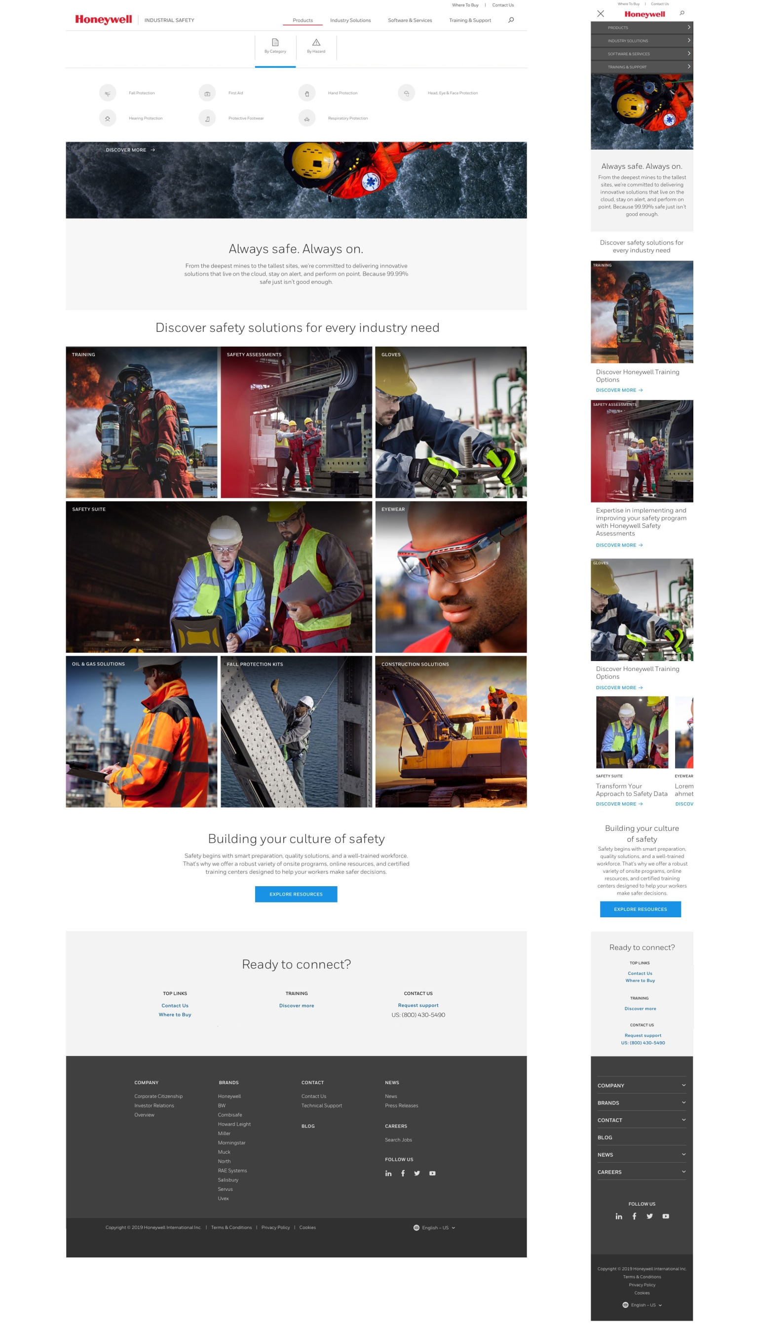 Honeywell Industrial Safety website - WNW