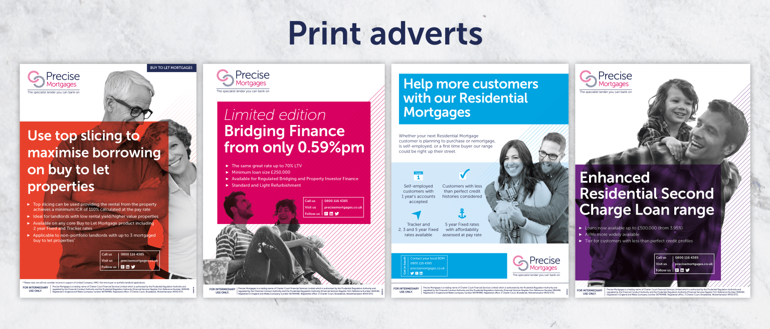 Precise Mortgages Advertising Campaign