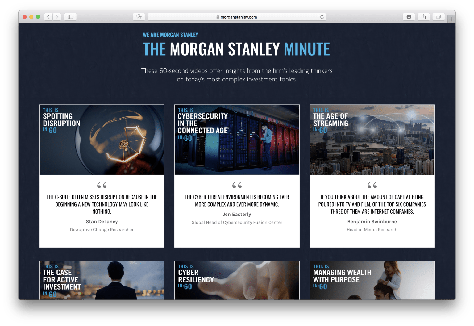 Morgan Stanley Minute