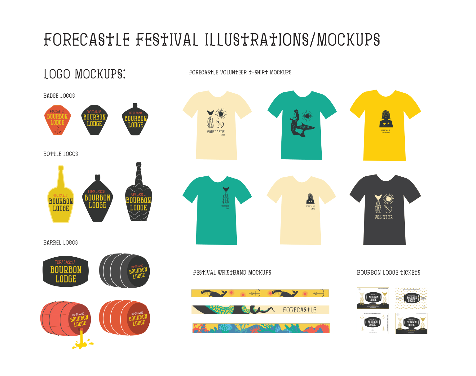 Forecastle Merch Illustration/Design