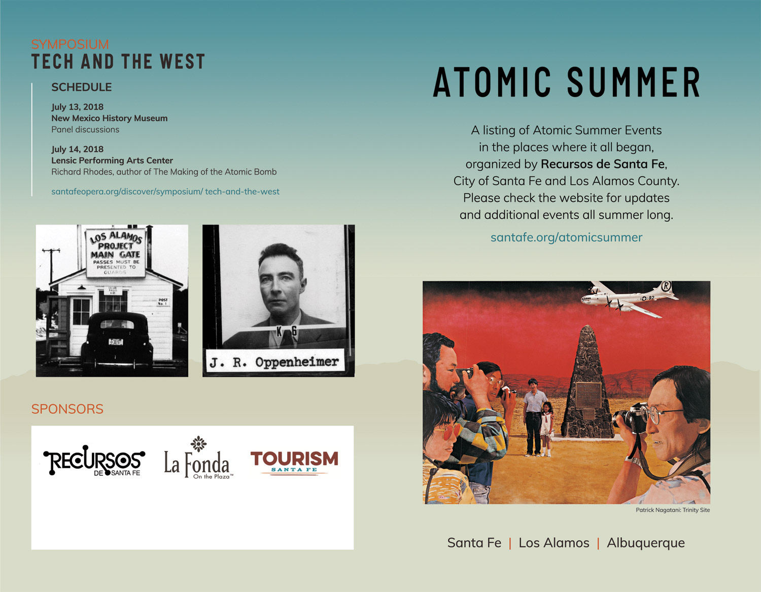 Atomic Summer web page and printed brochure