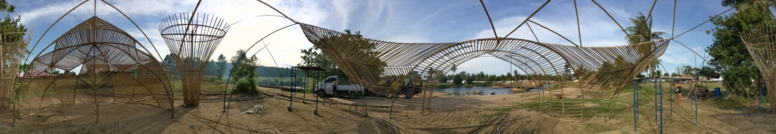 Bamboo Pavilion for Ocean Conservation
