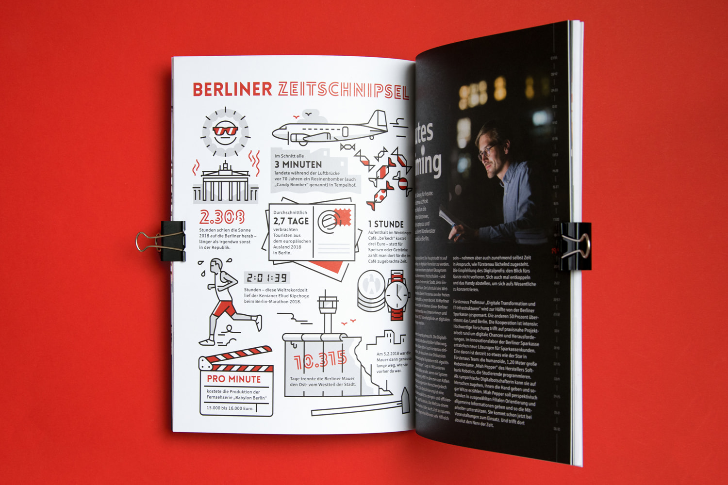 Berliner Sparkasse Annual Report Infographics