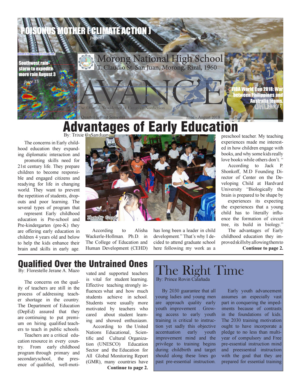 Newsletter layout and illustration