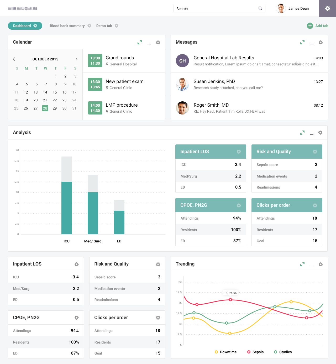 Interface for medical staff and laboratories