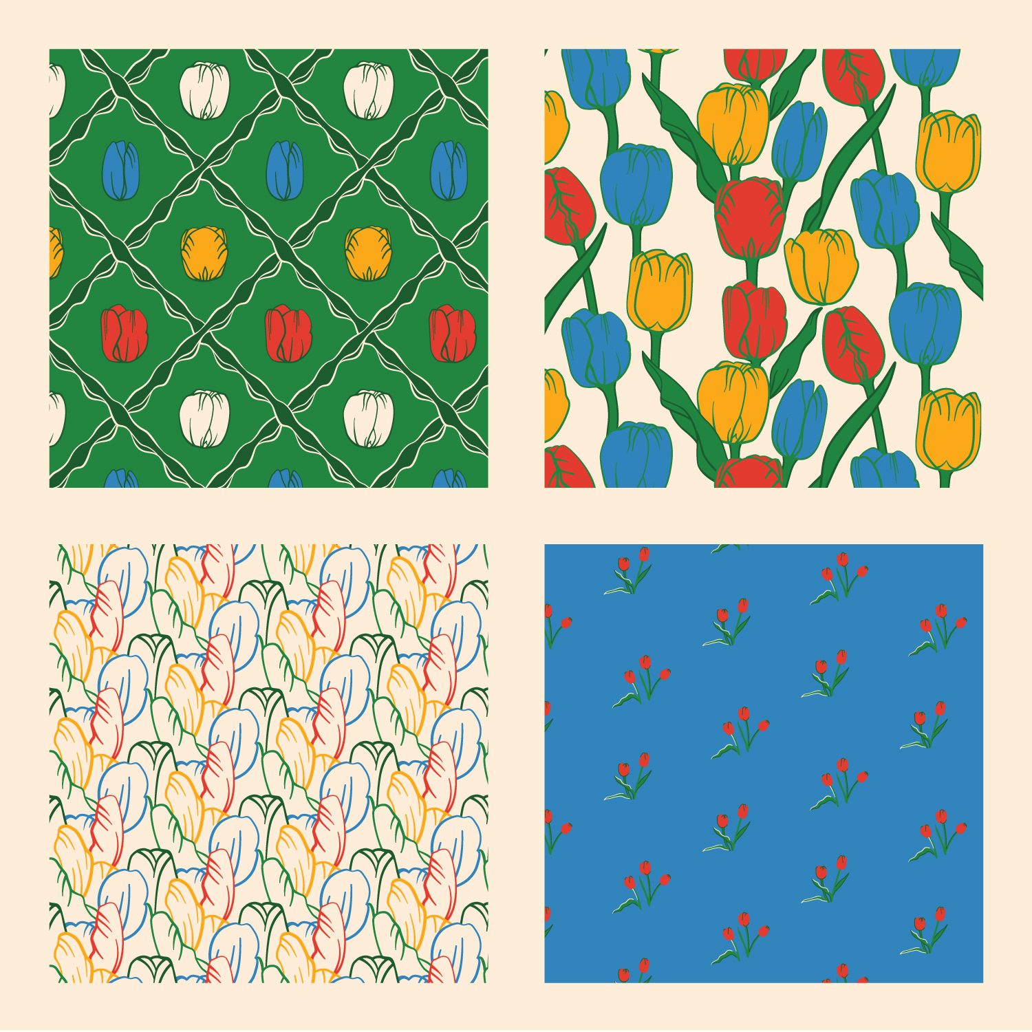Tulips Pattern Collection