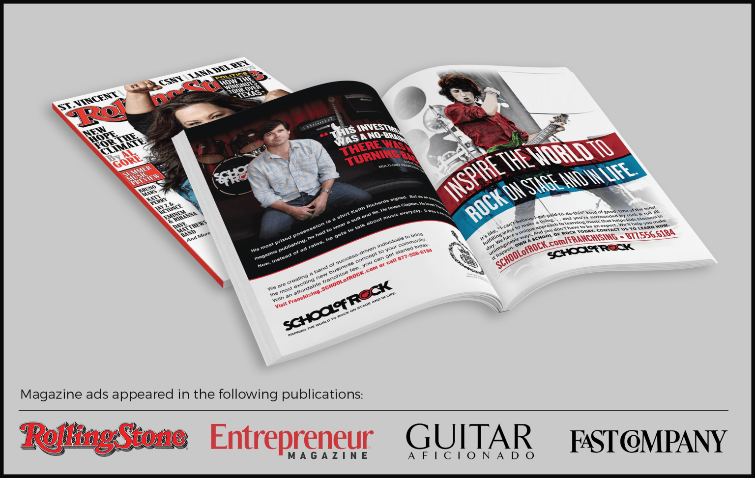 Rolling Stone Magazine ads for School of Rock