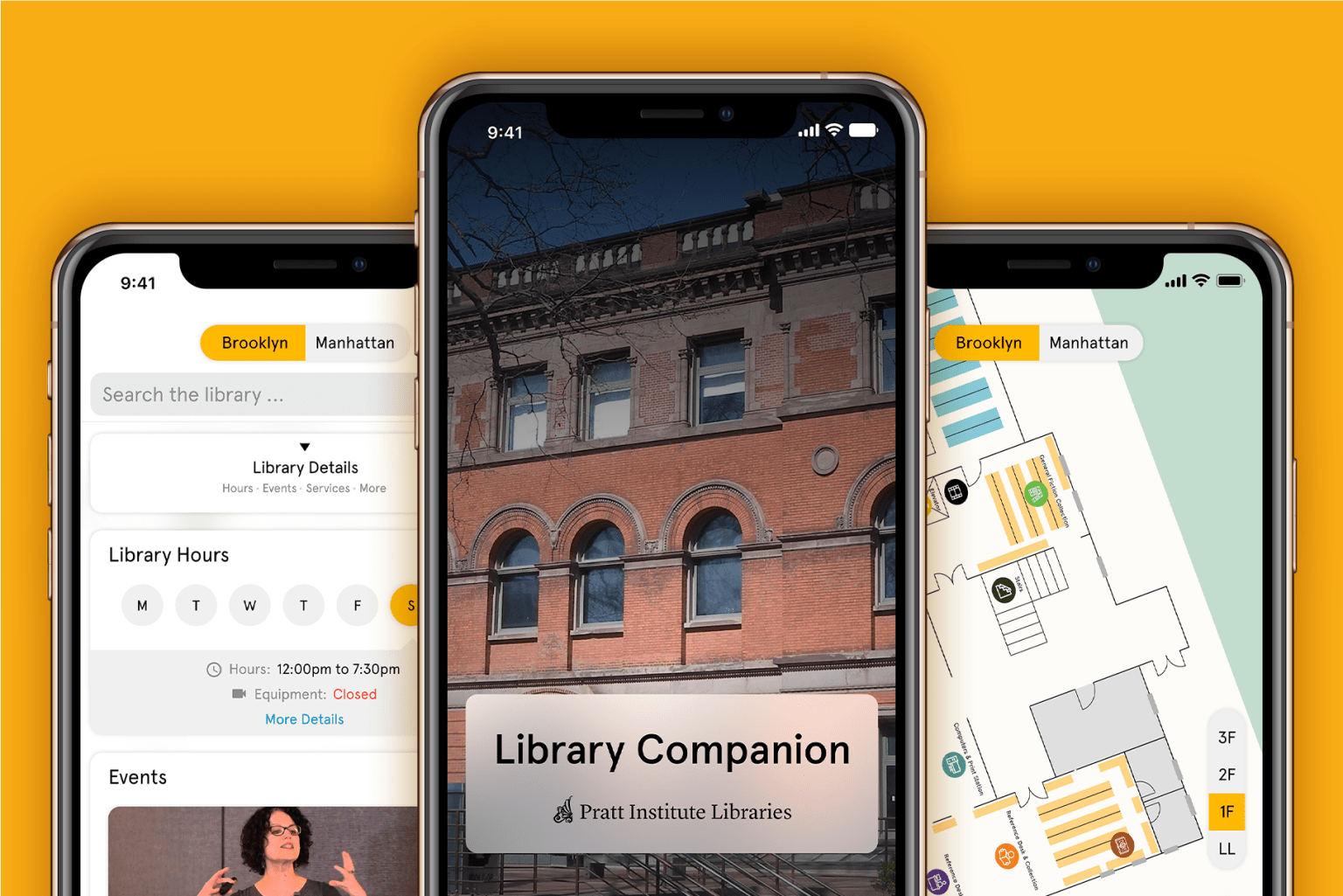Pratt Institute library — Design a new App for library users