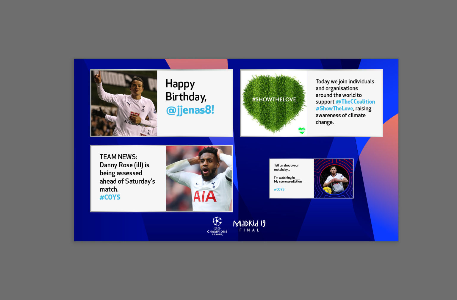 Tottenham Hotspur Out of Home Social Advertising