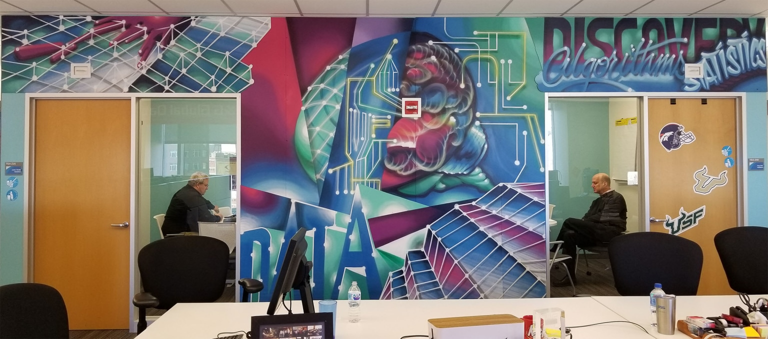P&G Machine Learning office space decor