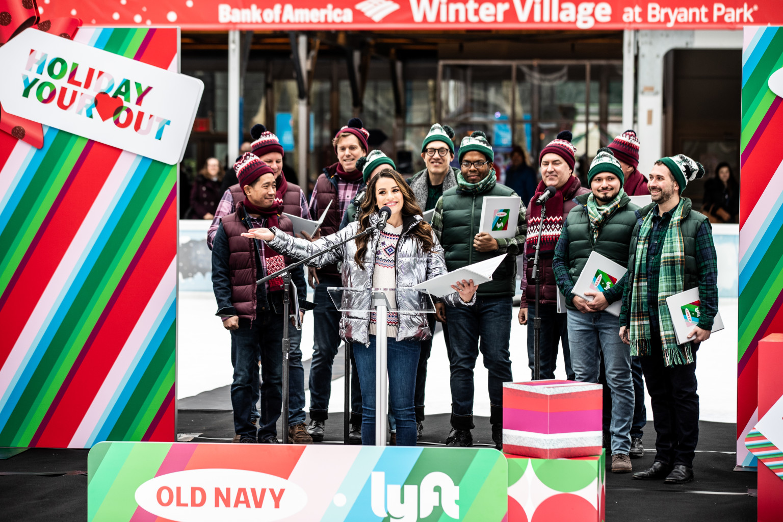 Old Navy Holiday Your Heart Out Campaign Stunt